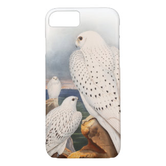 Adult Light Greenland Falcon Birds Great Britain iPhone 7 Case