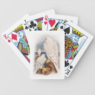 Adult Light Greenland Falcon Birds Great Britain Poker Deck