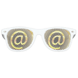 @ Adult Party Shades, White Retro Sunglasses