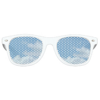 Adult Retro Party Shades, blue sky