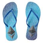 Adult, Slim Straps – Blue Digital Background Thongs