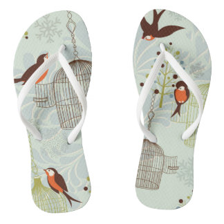 Adult slipper Fine Straps Passarinhos Thongs