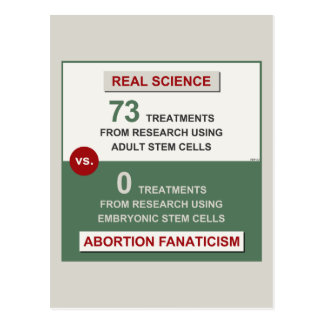 Adult Stem Cell Research Post Card