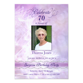 Adult Surprise Birthday Party Photo Invitations