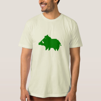Adult tee-shirt Man - Organic - Wild boar of the A T-Shirt
