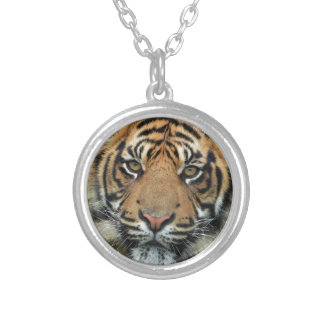Adult Tiger Silver Plated Necklace