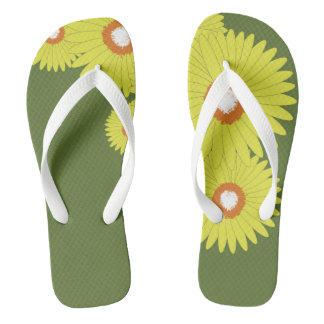 Adult, Wide Straps DAISY BURST Thongs
