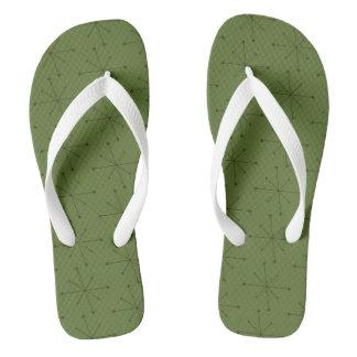 Adult, Wide Straps MIDCENTURY MODERN STARBURST PAT Thongs