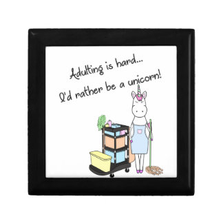 Adulting is hard... I'd rather be a unicorn! Gift Box