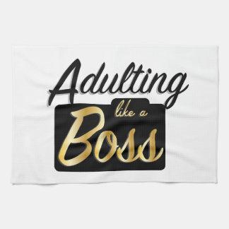 Adulting like a Boss   Kitchen Towel
