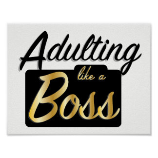 Adulting like a Boss | Poster