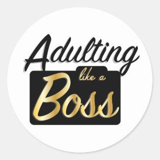 Adulting like a Boss | Sticker