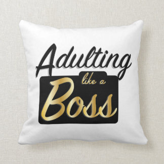 Adulting like a Boss | Throw Pillow