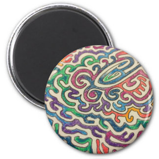 Adulting Zen 6 Cm Round Magnet