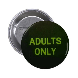 Adults Only Grunge Badge Pinback Buttons