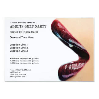 Adults Only Party Invitations