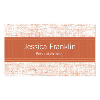 Advance Orange Assistant Business Cards