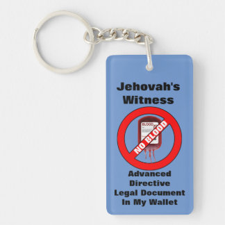 Advanced Directive Key Chain, No blood Double-Sided Rectangular Acrylic Key Ring