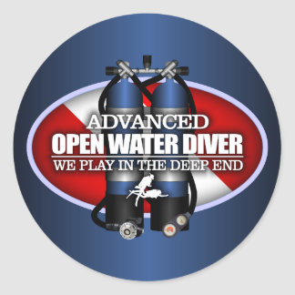 Advanced Open Water (ST) Classic Round Sticker