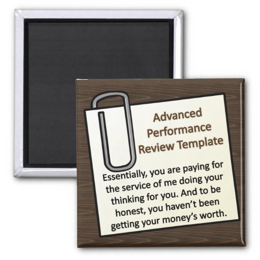 Advanced Performance Review Techniques Refrigerator Magnet
