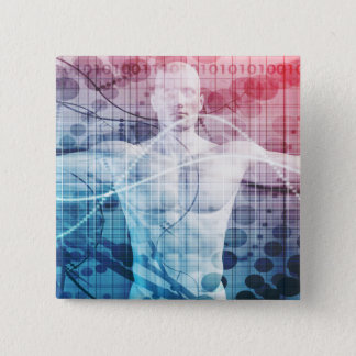 Advanced Technology and Science Abstract 15 Cm Square Badge