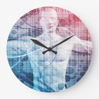 Advanced Technology and Science Abstract Large Clock