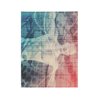 Advanced Technology and Science Abstract Wood Poster