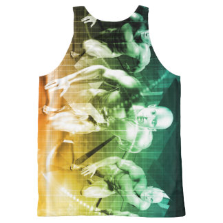 Advanced Technology as a IT Concept Background All-Over Print Singlet