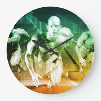 Advanced Technology as a IT Concept Background Large Clock