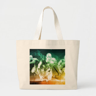 Advanced Technology as a IT Concept Background Large Tote Bag