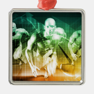 Advanced Technology as a IT Concept Background Metal Ornament