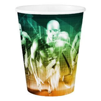 Advanced Technology as a IT Concept Background Paper Cup