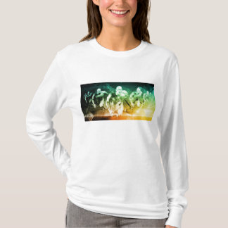 Advanced Technology as a IT Concept Background T-Shirt