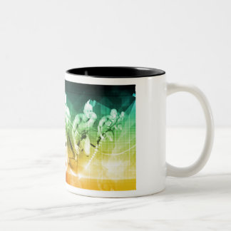 Advanced Technology as a IT Concept Background Two-Tone Coffee Mug