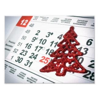 Advent calendar photographic print