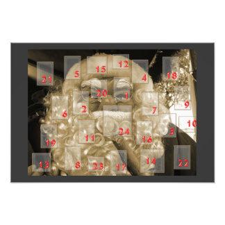 Advent calendar with nikolaus photo