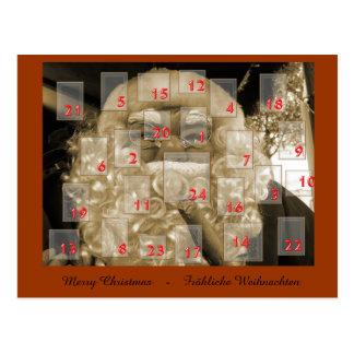 Advent calendar with nikolaus postcard