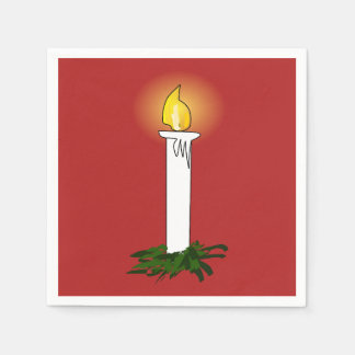 Advent Candle Red Standard Cocktail Paper Napkin