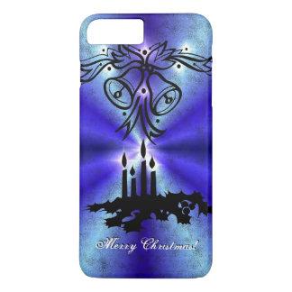 Advent, Christmas Artdeco on blue green Rainbow iPhone 7 Plus Case