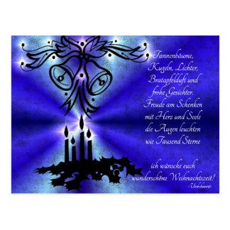 Advent, Christmas, poem on German Postcard