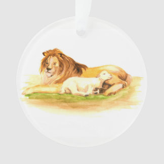 Advent Jesse Tree Lion and Lamb Ornament