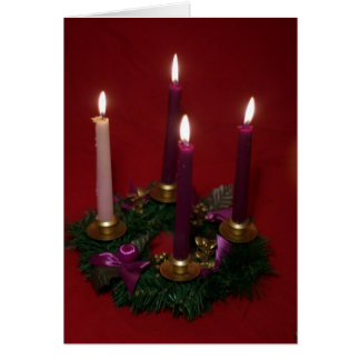 Advent wreath card