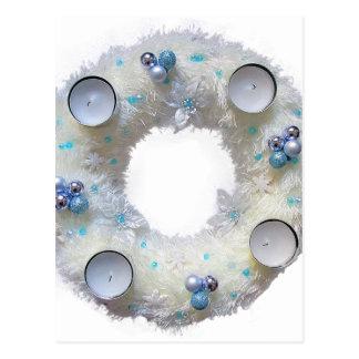 advent wreath postcard