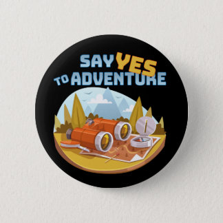 Adventure, 2¼ Inch Round Button