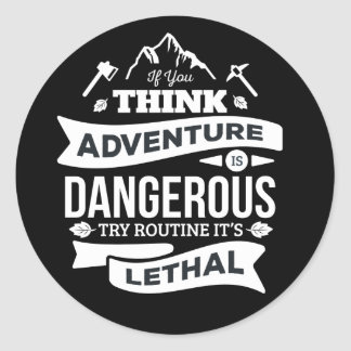 Adventure, Attitude, Success, Motivational Quote Classic Round Sticker