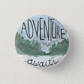 Adventure Awaits 3 Cm Round Badge
