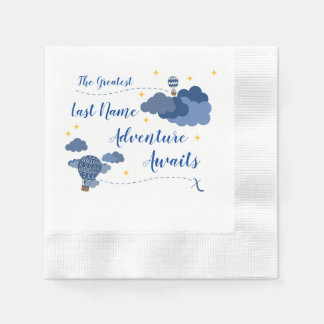Adventure Awaits Baby Shower Design Disposable Napkins
