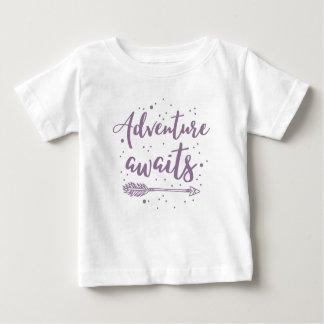 adventure awaits  in purple baby T-Shirt