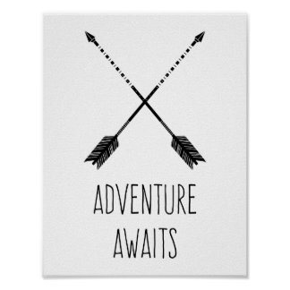 Adventure Awaits Inspirational Poster