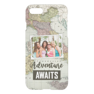 Adventure Awaits Map | Upload Your Own Photo iPhone 7 Case
